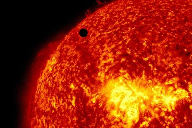 In this high-definition image, Venus makes its transit of the sun on June 5, 2012 (NASA)